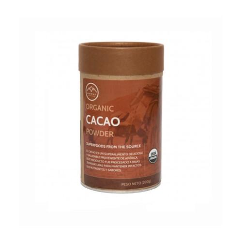 Cacao powder desgrasado en polvo 200 g