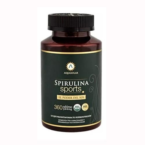 Espirulina orgánica 360Un/ 500 mg
