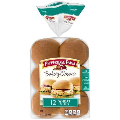 Pepperidge Farm Bakery Classics Wheat Slider Buns, 15oz Bag, 12pk