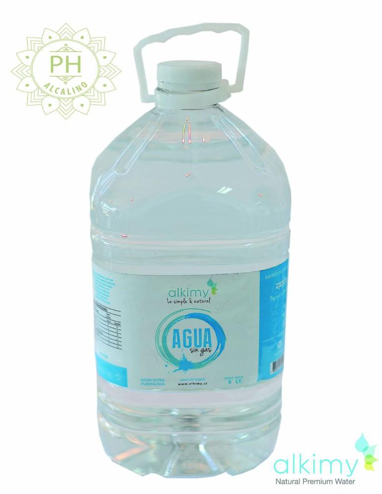 Agua ph alcalíno 6 lts