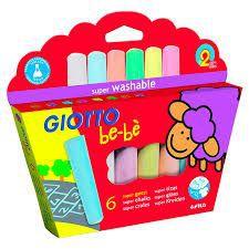 Tiza de colores para pequeños - giotto bebé Caja 6 Un