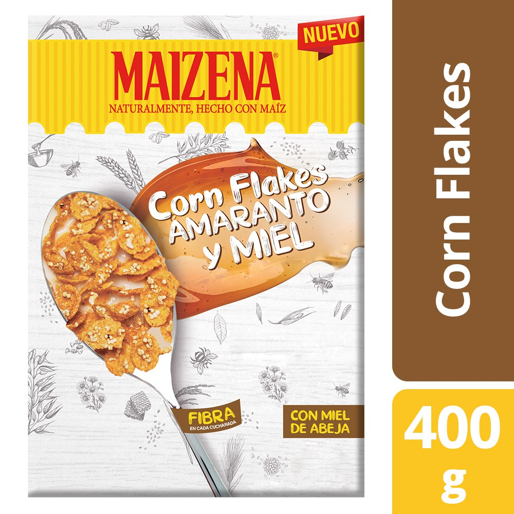 Cereal hojuela de maíz amaranto