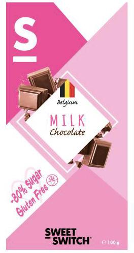 Chocolate de leche sin azúcar y sin gluten
