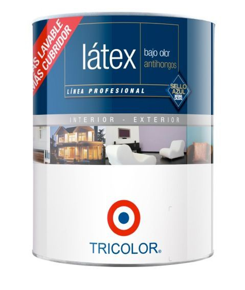 Látex profesional blanco perfecto 1/4 galón 12 x 10 cm