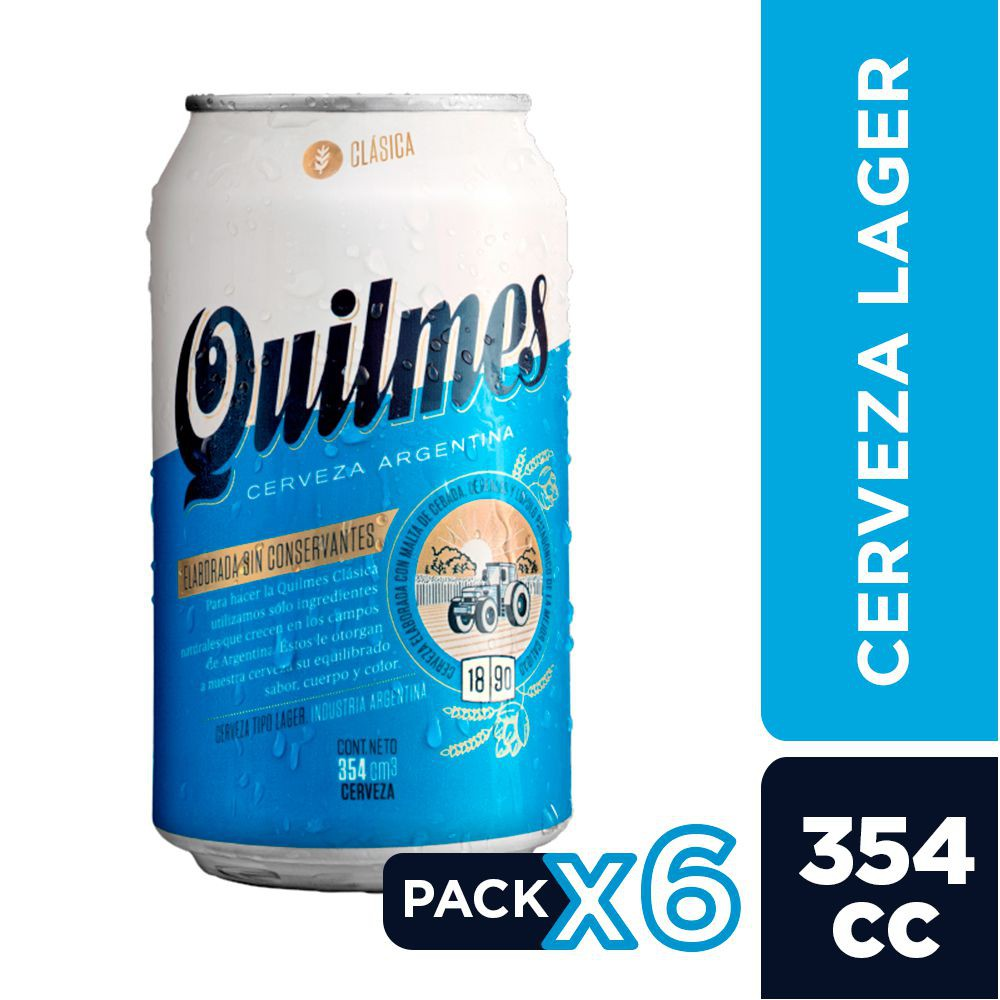 Quilmes lata six pack