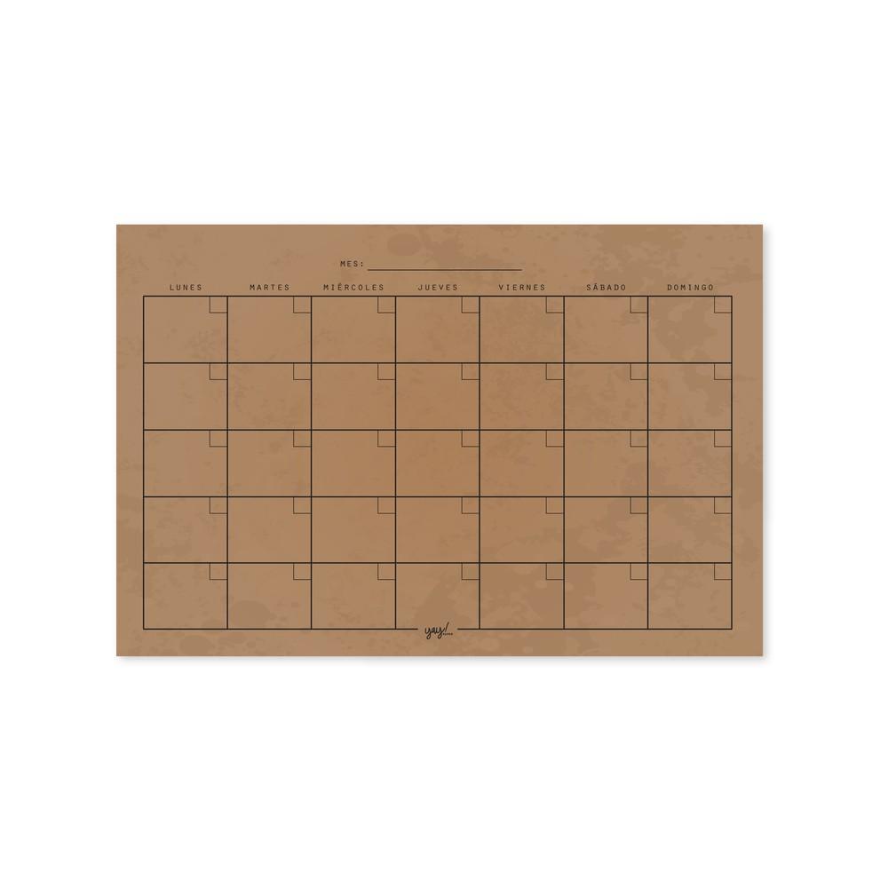 Calendario 20x30cm iman kraft 20x30 cms