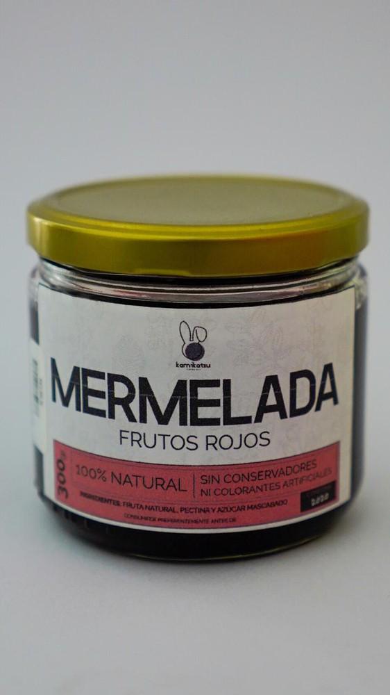 Mermelada de frutos rojos con hierbabuena