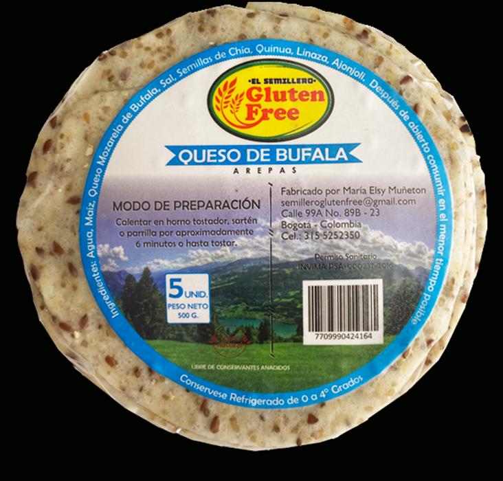 Arepa con queso de búfala 500g