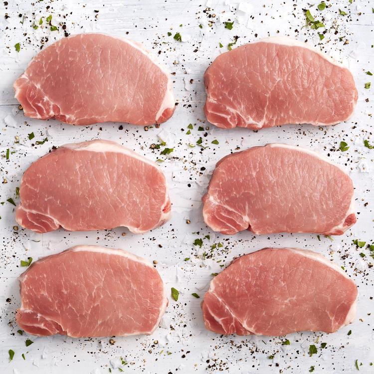Antibiotic free new york pork chops