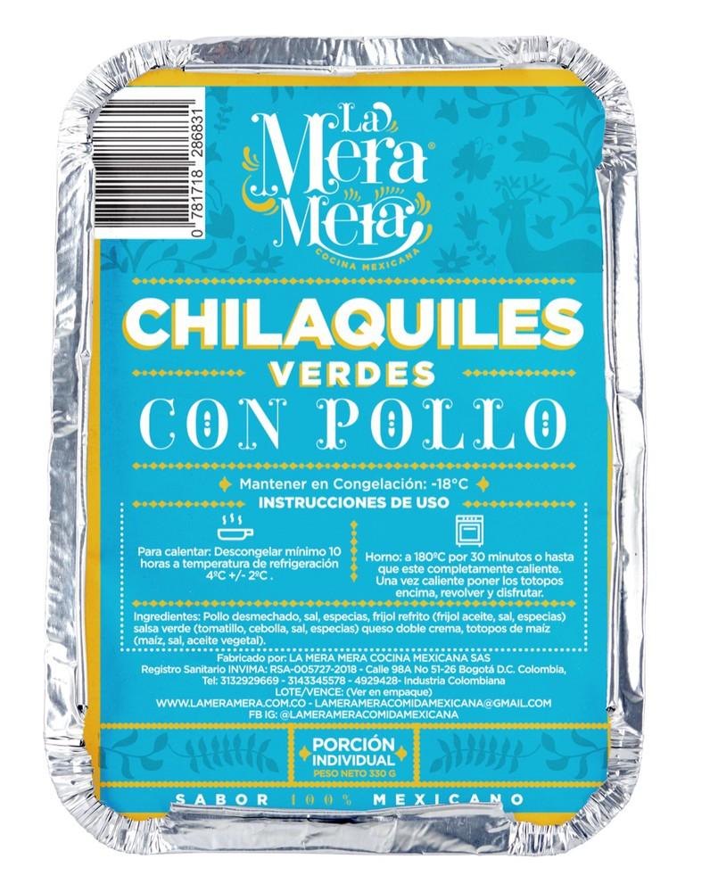 Chilaquiles con pollo 350 gramos