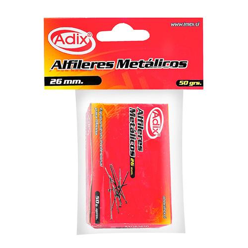Adix, Caja Alfileres 2.6cm Caja 50 g
