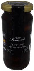 Aceitunas Negras en Vinagre Aragón Foncarde Vidrio 230 Gramos