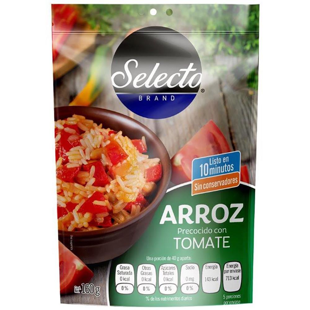Arroz precocido con tomate