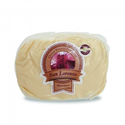 Queso San Lorenzo Mexico Artesanal Manchego 400 gr queso manchego 100% leche de vaca