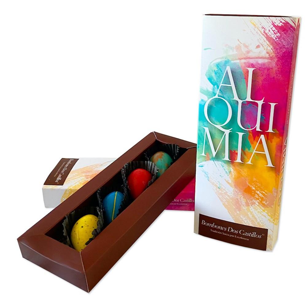 Chocolates línea ALQUIMIA 63% cacao Caja