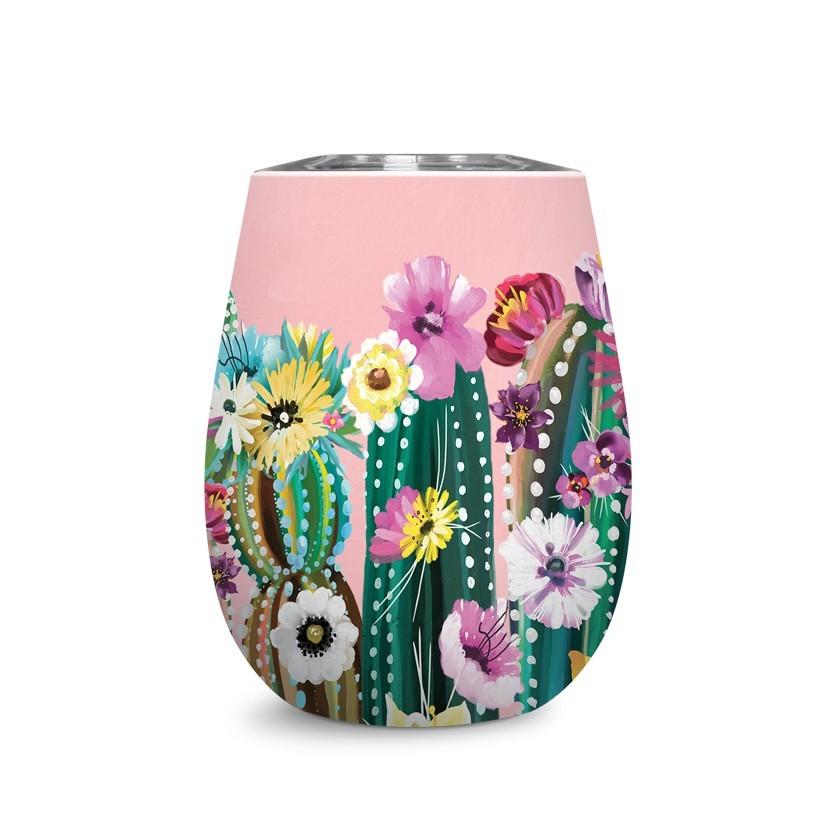 Vaso acero inoxidable - cactus coloridos
