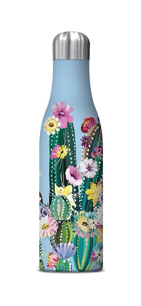 Botella agua acero inoxidable - cactus coloridos