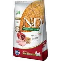 Ração canine ancestral grain frango mini N&D 2,5kg