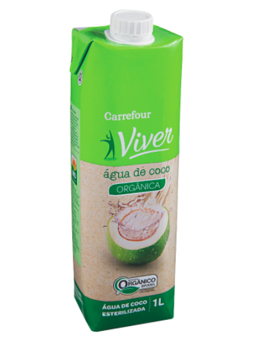 Água de coco orgânica Viver