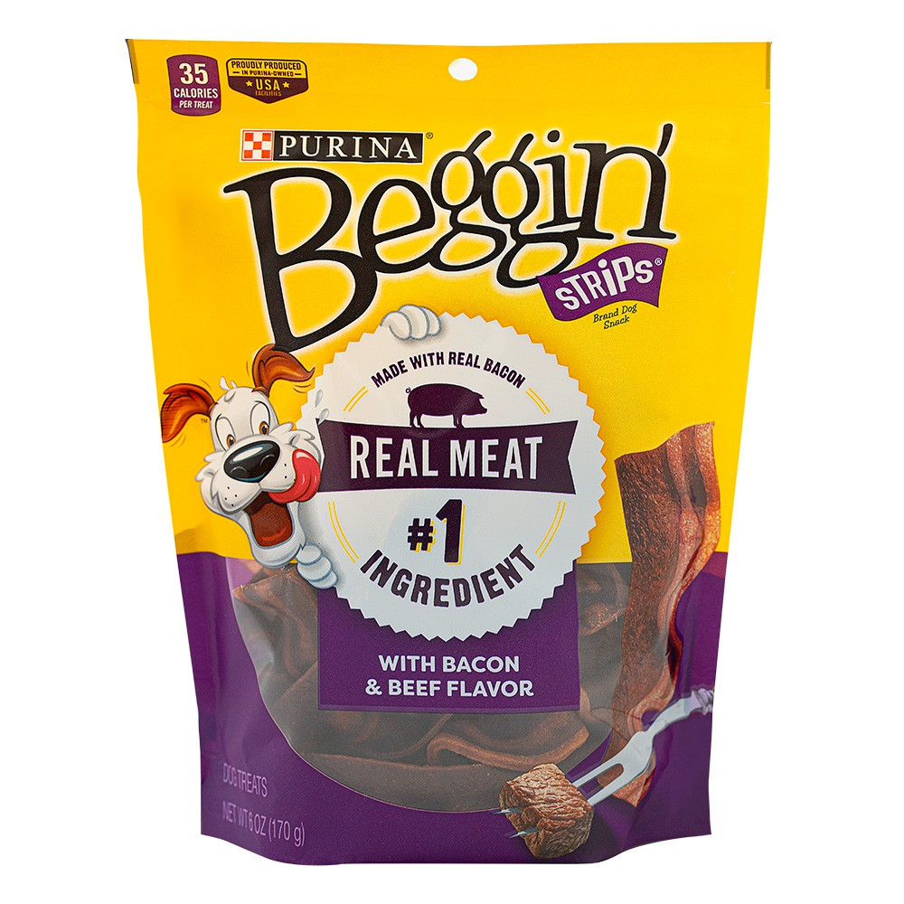 Snacks strips bacon beef