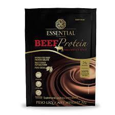 Beef protein cacau em sachê- essential nutrition Embalagem de 32g