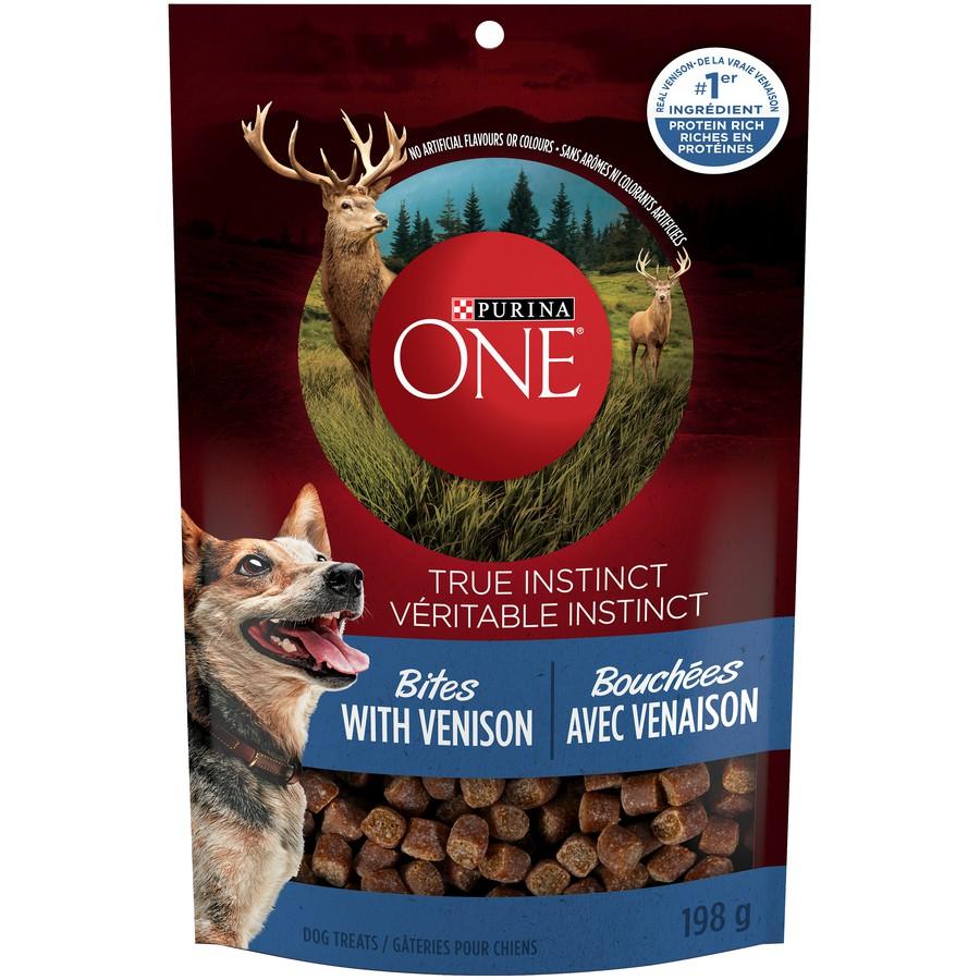 True instinct bites with venison natural dog treats