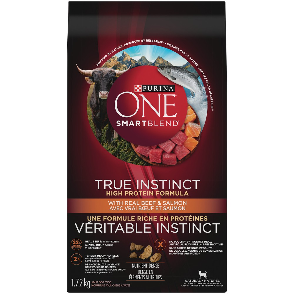 True instinct natural dog food beef and salmon