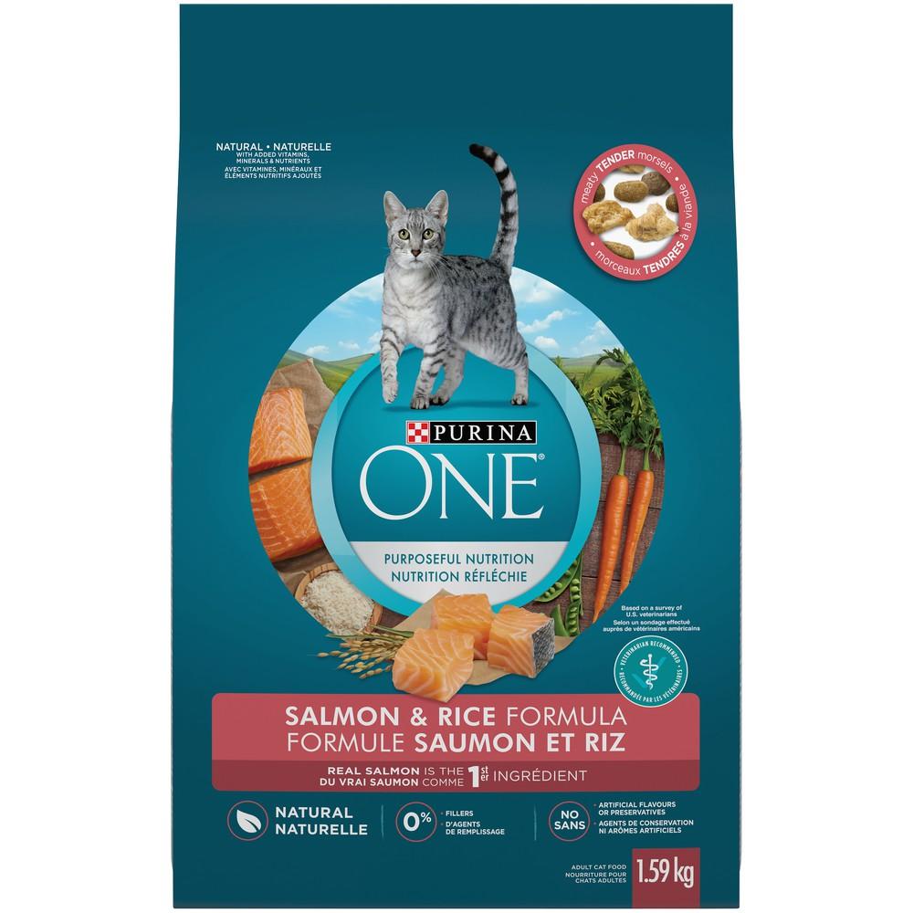 Natural cat food salmon & rice