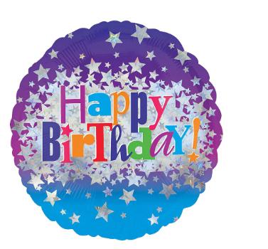 Globo metálico de cumpleaños