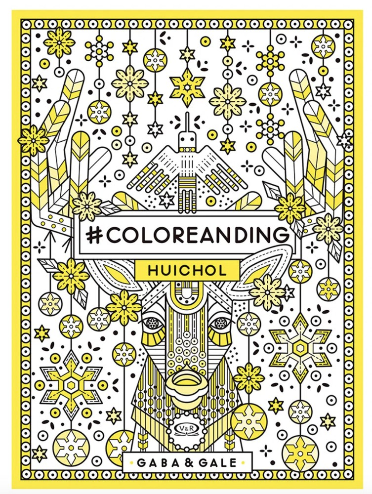 Mandala coloreanding huichol