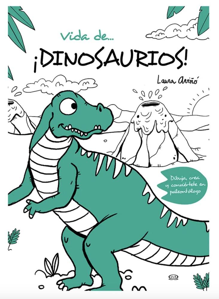 Mandala vida de dinosaurios