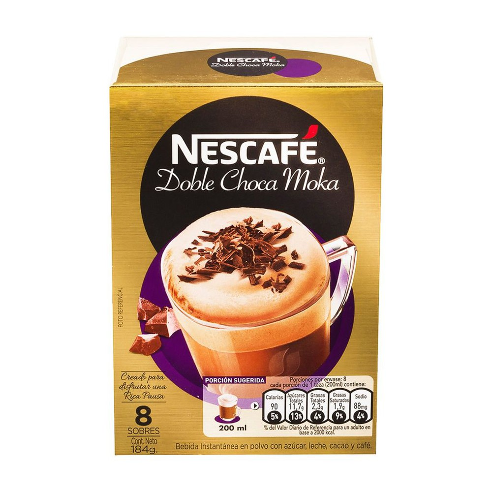 Nescafe doble choca moka caja 8 sobres