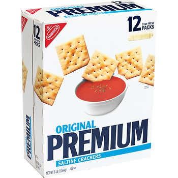 Premium Saltine Crackers, Original, 4 oz, 12-count