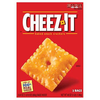 Cheez-It Crackers, Cheddar, 3 lbs