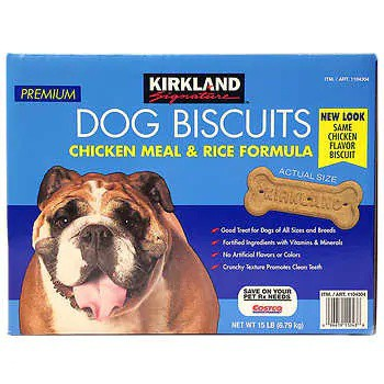 Kirkland Signature Chicken Meal & Rice Formula Dog Biscuits, 15 lbs