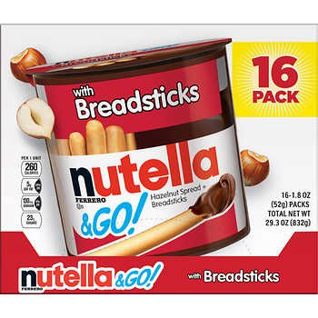 Nutella & Go, Hazelnut Spread and Breadsticks, 1.8 oz, 16-count