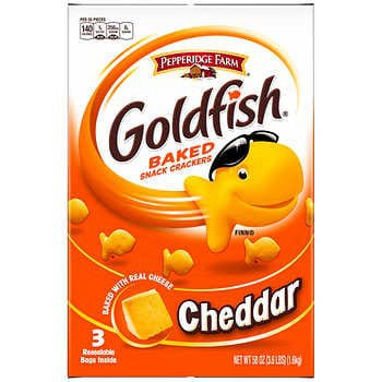 Pepperidge Farm Goldfish Crackers, Cheddar, 58 oz