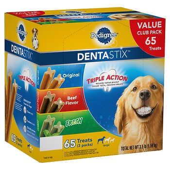 Pedigree DentaStix Variety Dog Treats, 65-count