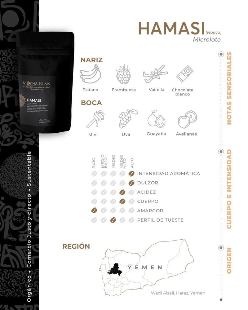 Hamasi   Molido Para Prensa Francesa   Café De Especialidad 250 gr