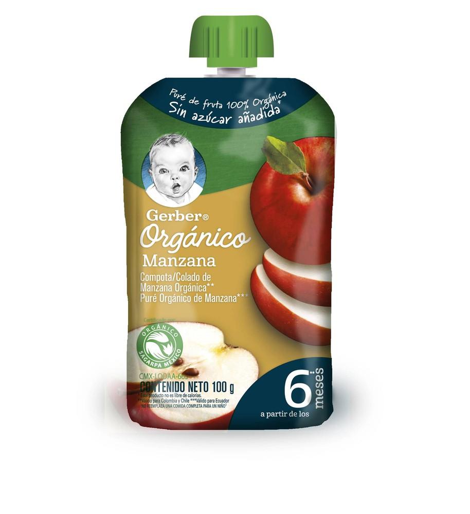 Compota orgánico manzana pouch