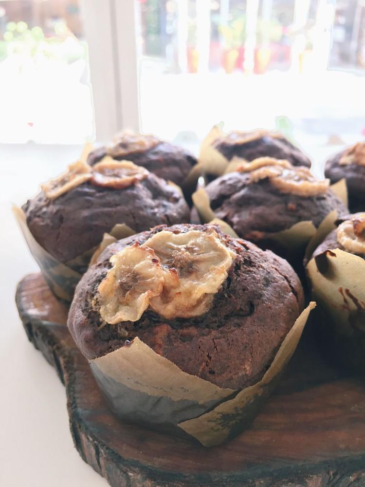 Muffin chocolate platano caja de 6 unidades