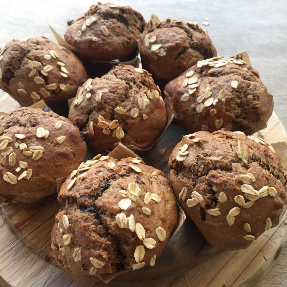 Muffin manzana canela caja de 6 unidades