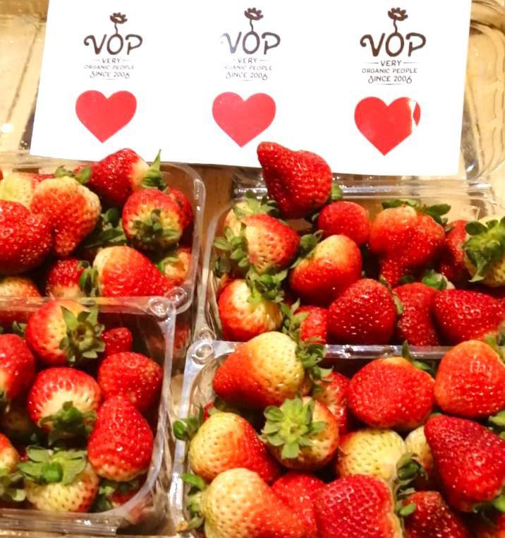 Frutillas frescas 500g caja 500g