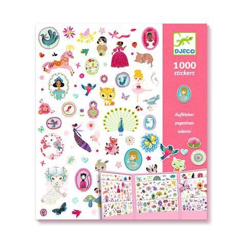 Set 1000 stickers niñas