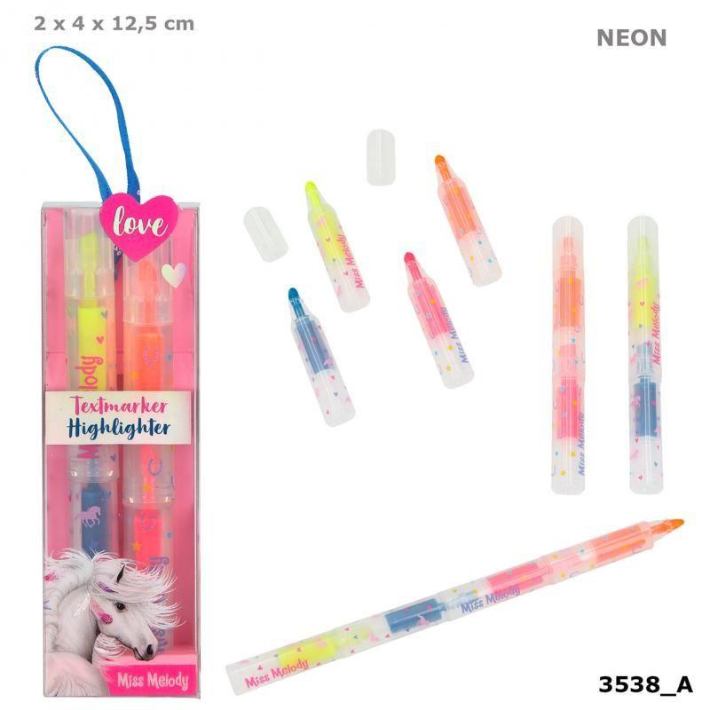 Rotuladores fluorescentes de miss melody 4 x 12,5 x 2 cm