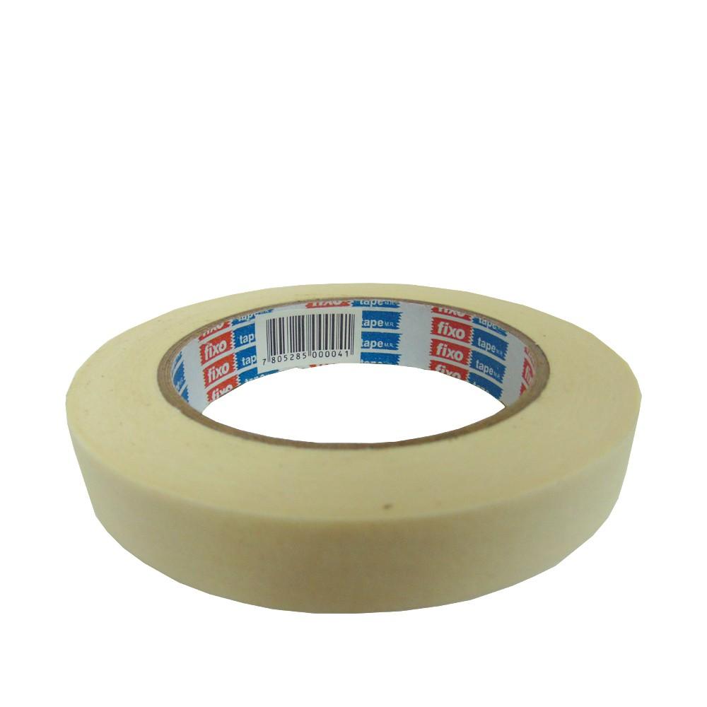 Cinta adh masking tape crema 40mt x 18mm fixo 40MMx18M