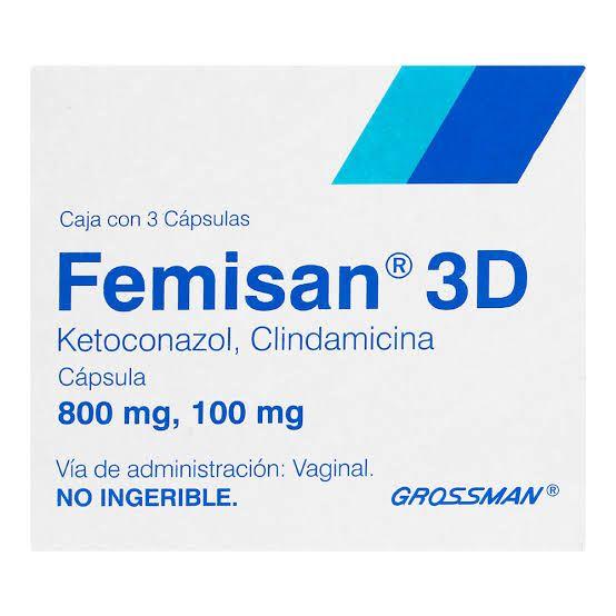 Femisan 3D 100Mg/800Mg Tab Vaginales