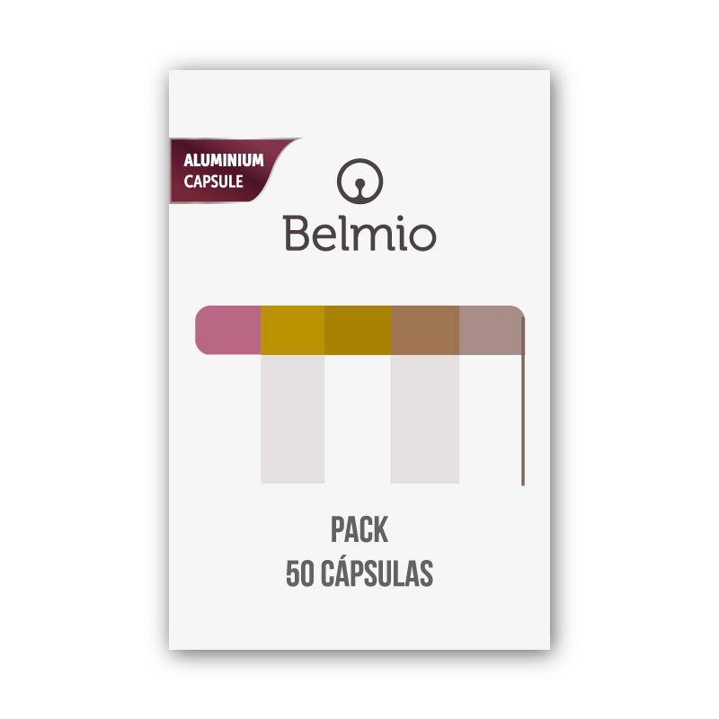 Pack sugerencias del barista / 50 cápsulas de café belmio / nespresso ® compatibles 1 bolsa