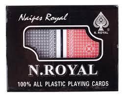 Naipes poker juego de cartas inglés 12x9 aprox