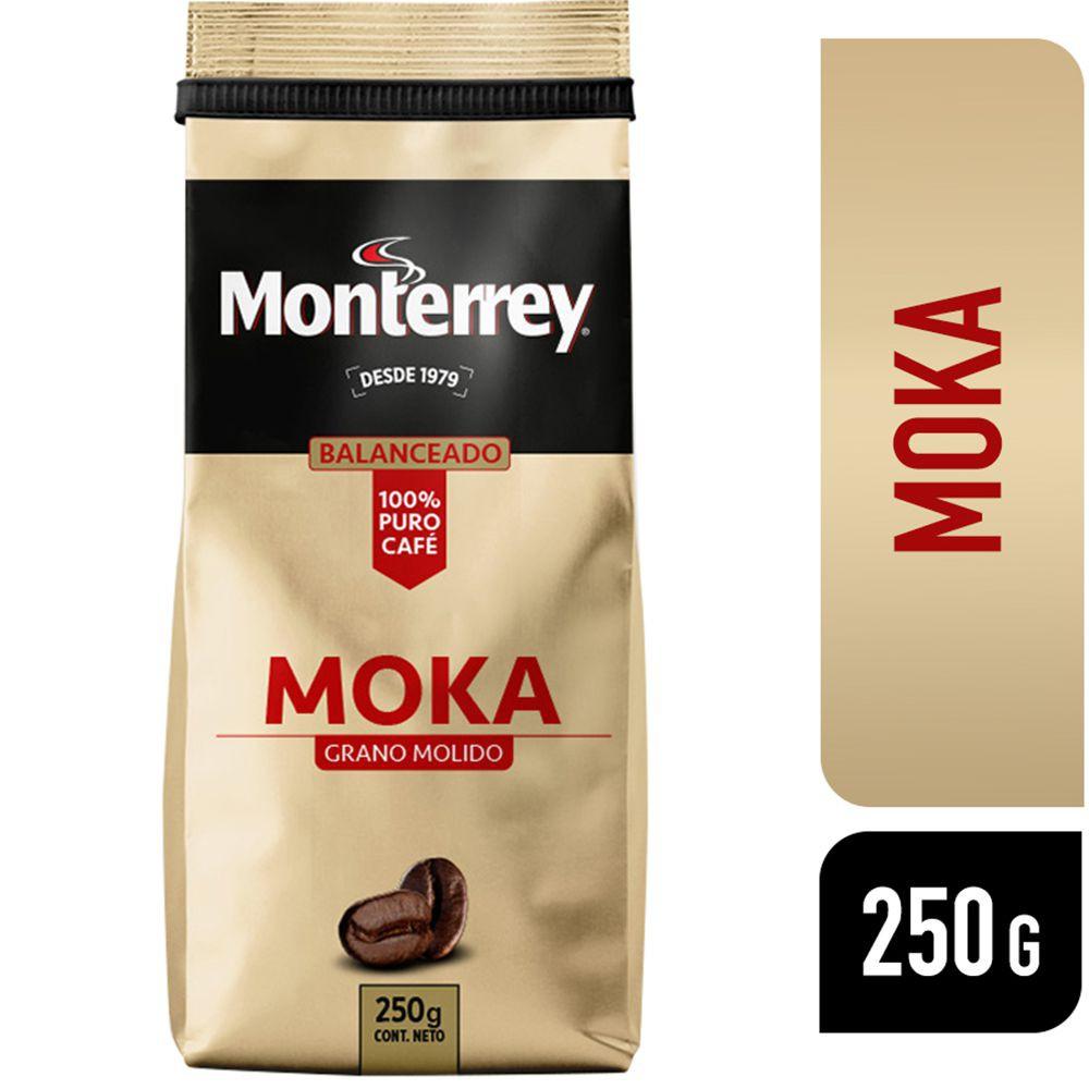 Café de grano molido sabor moka